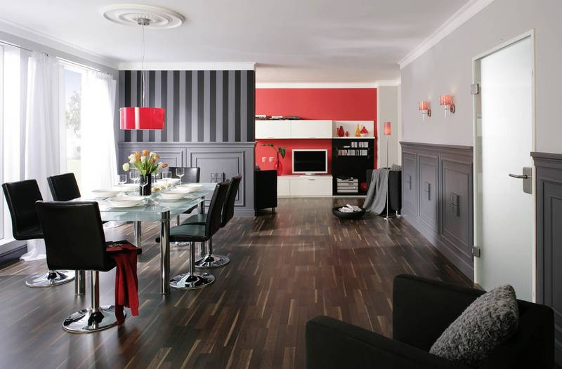 design wohnzimmer grau wei rot inspirierende bilder