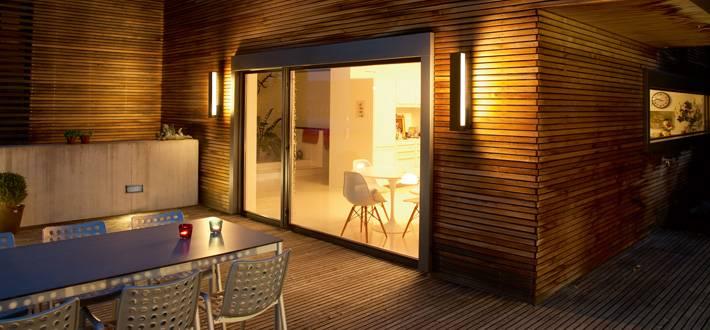Terrassen wandbeleuchtung glas pendelleuchte modern - Wandbeleuchtung aussen ...