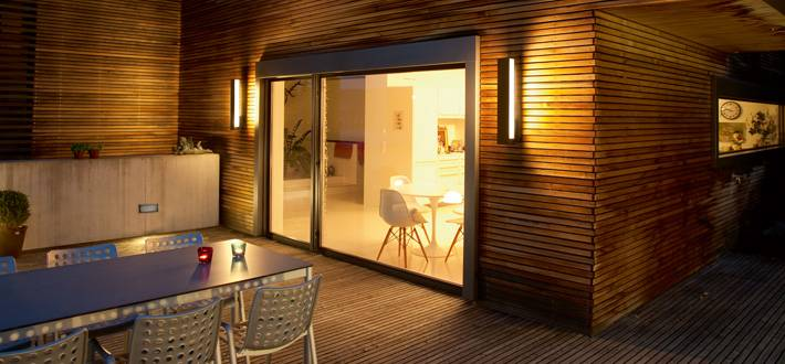 Terrassen wandbeleuchtung glas pendelleuchte modern - Beleuchtung terrasse ...